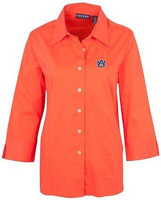 NCAA Auburn Tigers Women's Three Quarter Sleeve Blouse (Sunkissed, -