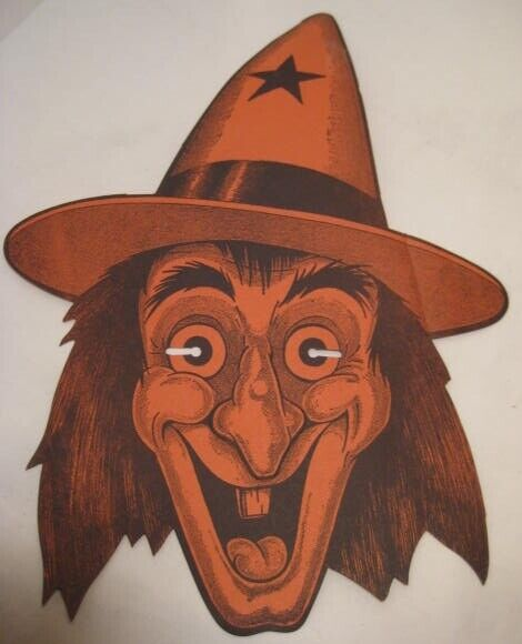 Old Paper Halloween Witch Advertising Mask Tip Top Bread + Tennessee Jed Radio