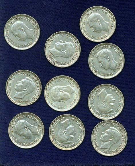 AUSTRALIA GEORGE VI  1943-D & S   3 PENCE  SILVER COINS