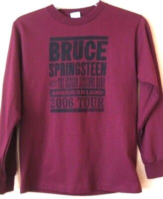 BRUCE SPRINGSTEEN.MAROON.LADIES.CONCERT AMERICAN LAND TOUR 2006..T-SHIRT.NEW S