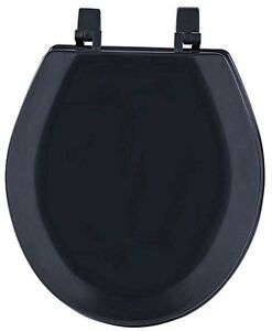 Hard Wood Standard Round Toilet Seat Black EBay