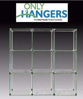 Only Hangers 9 Cube Glass Display Unit - 12 X 12 Glass