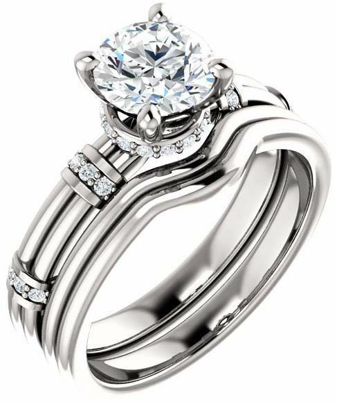 1 carat Round Diamond Engagement Wedding 14k White Gold Ring G VS1 w/ GIA cert