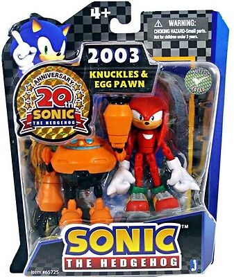 Sonic 20th Anniversary: 3.5'' 2003 Knuckles Egg Pawn Action Figure *NEW*