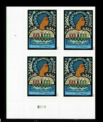 5560 Kwanzaa Plate Block Mint/nh FREE SHIPPING Delivery After 10/10
