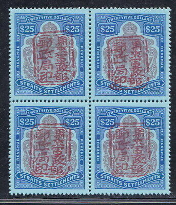 Straits Settlements Japanese Occupation 1942 25$ B/4 MNH Reproduction Stamp sv