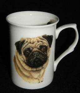 BN Pug China Mug, Bone China Mug, Dog Gift, Pug Gift, Dog Mug,