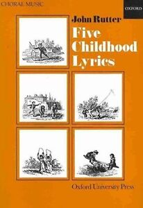 Five Childhood Lyrics: Vocal Score by Oxford University Press (Sheet music,...
