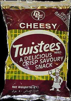 Twistees Cheesy Crisp Savoury Baked Snack rice based Gluten Free 50grms (Baked Rice Crisp)