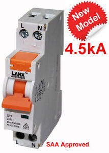 SAFETY SWITCH 20A RCD MCB ONE SINGLE POLE SAFETY SWITCHES SWITCHBOARD WHOLESALE
