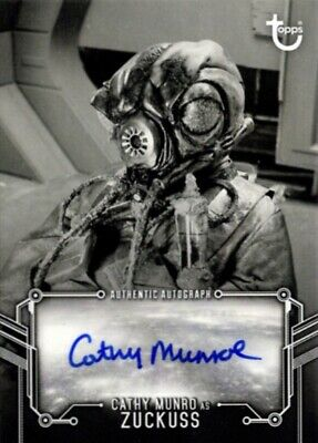 Star Wars ESB Empire Black & White Autograph Card, Cathy Munro as Zuckuss
