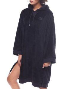 NWT Puma black oversized sherpa fleece hoodie jumper dress size XL rihanna