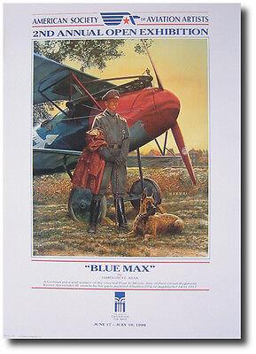 James Dietz  - Blue Max Poster - Albatross D.V. Scout - Aviation Art Print