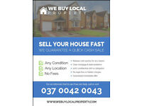 You need to sell your house quickly? We can help you find a buyer! PROBLEM SOLVED.