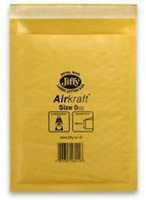 100x Genuine Jiffy Airkraft GOLD Padded Bubble Envelopes Postal Bag 115mmx195mm