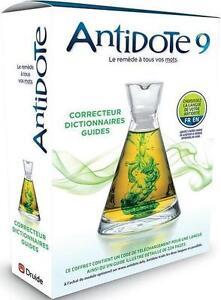 ANTIDOTE 9 V 4 NEW!!! ANGLAIS ET FRANCAIS