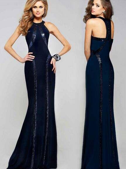 Купить Unbranded - Womens Sexy Sequins Sleeveless Long Maxi Dress Evening Ball Gown Slim HOT C907