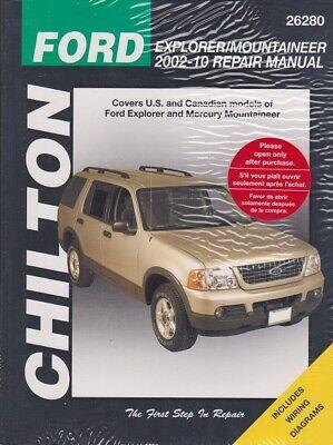 2002-2010 Ford Explorer Mercury Mountaineer Chiltons Repair Shop Manual 8361 2002 Mercury Mountaineer Manual