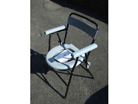 COMMODE SEAT. PORTABLE AIDAPT VR252F LIGHTWEIGHT FOLDING CHAIR