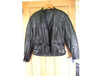 BELSTAFF OUTLAW UK LEATHER MOTORCYCLE JACKET SIZE 44