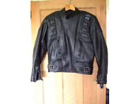 BELSTAFF OUTLAW UK LEATHER MOTORCYCLE JACKET SIZE 46