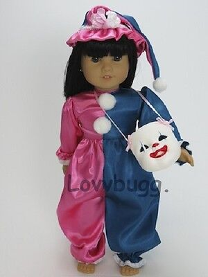 "Lovvbugg Clown Costume for 18"" American Girl Doll Clothes"