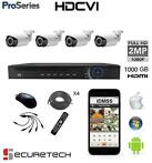 Compleet FULL HD-CVI 1080P gemotoriseerde Bullet camera set