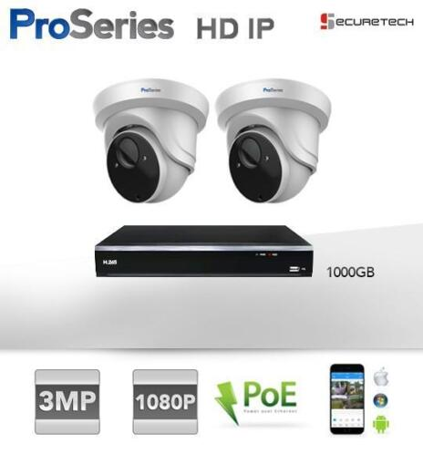 Compleet 3MP H.265 HD IP PoE Dome camera set