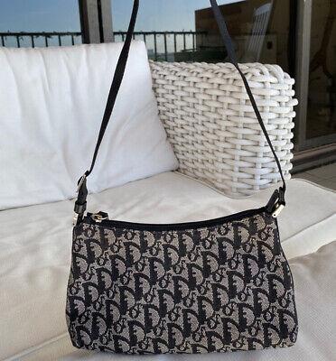 Authentic Christian Dior Monogram Tote Bag Purse Pouch Vintage Trotter