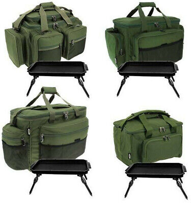 FISHING TACKLE BAG CARRYALL HOLDALL WITH CARP FISHING BIVVY TABLE NGT