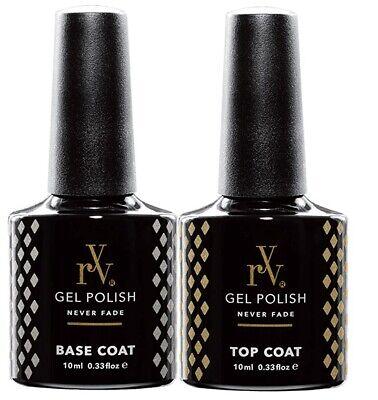 RYV Gel Nail Polish Top and Base Coat UV LED Soak Off 10ml Top Coat Base Coat