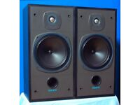 Tannoy M15 2-WAY Speakers. Max Power 100W at 8ohms. Audiophile. Classic. One tweeter doesn't work!!