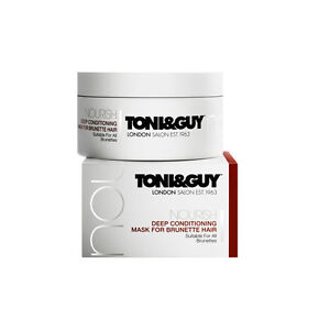 Toni & Guy Nourish Deep Conditioning Mask for Brunette Hair 200ml New