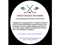 STREET HOCKEY WILTSHIRE - Get Involved!