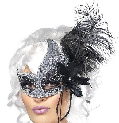 Smiffy Engel Kostüm (Maskenball Kostüm Augen Maske Abiball Augenmaske Dunkler Engel Smiffys)