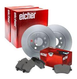 Brake Front Disks and Pads for Suzuki Swift 1.3, NEW Eicher 104810139 104810149