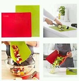 High Quality Homeware Bendable Flexible Chopping Board Green Red x 2 ONO