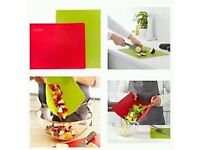 High Quality Homeware Bendable Flexible Chopping Board Green Red x 2 ONO