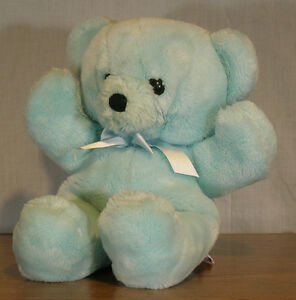 vintage ourson bleu / blue teddy bear