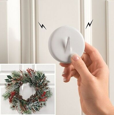 Magnetic Wreath Hanger, Secures Wreaths And Decorations To Steel Door, Reusable