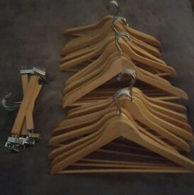 Ikea Wooden Clothes Hangers Bundles Shirts and Trousers
