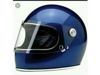 Biltwell Gringo Navy Retro Motorbike Helmet