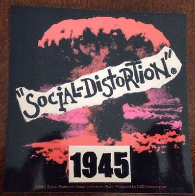 "Social Distortion Sticker 4""x4"""