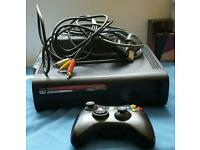 XBOX 360 CONSOLE WITH CABLES + CONTROLLER ONLY
