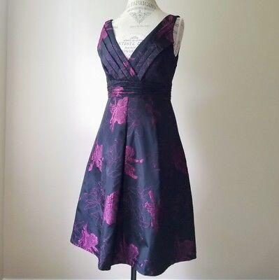 Elie Tahari Bethany Dress Plumberry, Size 0, Black and Plumb colors, $498  (Plumb Dress)