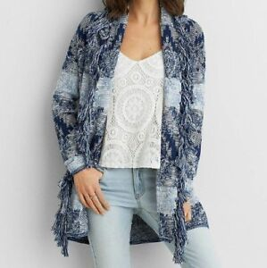 american eagle open front cardigan, size medium