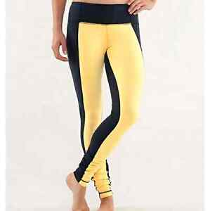 Lululemon  Navy and Yellow Color  Wunder Unders