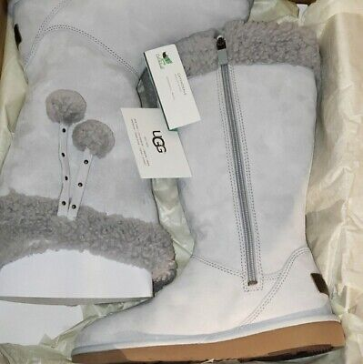 UGG Womens Plumdale Cuff Shearling Sheepskin Winter Tall Boot Gray 8 NEW IN BOX for sale  Minneapolis