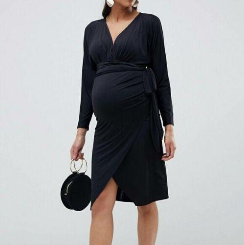 Maternity Wrap Midi Dress