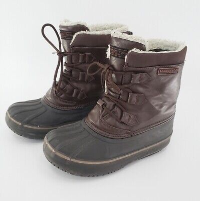 London Fog Girl's/Boy's Size 2 Brown Faux Leather Boots